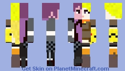 Mercury Xiao long black Minecraft Skin