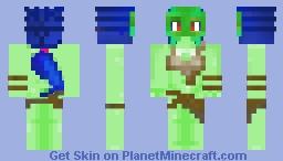 เε૨ყαɳα - Green Alien Warrior Girl Minecraft Skin