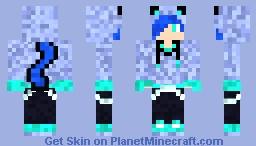 blue neko Minecraft Skin