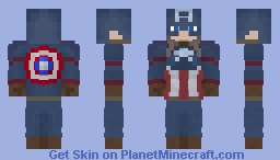 Captain America (Civil War) Minecraft Skin