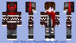 R318_fire_wolf skin Minecraft