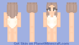 One Piece W/Long Bob & Extensions Cream Color Minecraft Skin