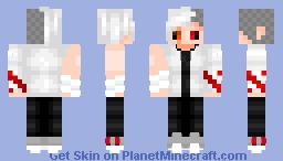 uhh what did I do to myself... Minecraft Skin