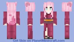 ╲⎝⧹⎝𝓚𝓸𝓷𝓸𝓱𝓪𝓷𝓪 𝓚𝓲𝓽𝓪𝓷 - 𝓡𝓮𝓷⎠⧸⎠╱ Minecraft Skin