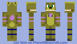 Me in an un-withered (sorta?) Spring-Bonnie springlock suit Minecraft Skin
