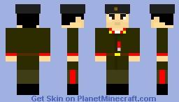 soviet red army major-general Hazi Aslanov 1941-1945 Minecraft Skin