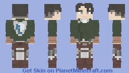Levi Ackerman | Attack on Titan | Defeated Minecraft Skin