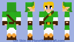 Link: The Legend Of Zelda Ocarina Of Time Minecraft Skin