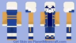 Outertale Sans Minecraft Skin