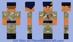 Royal Navy Reserve (Sea Cadet Corp) in MTP Uniform with Stable Belt Minecraft Skin