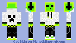 Green Slime Minecraft Skin