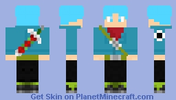 Mirai Trunks Dragon Ball Super Minecraft Skin