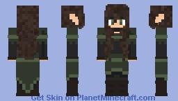 Forest Elf Huntress Minecraft Skin