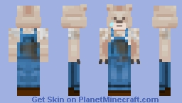 Overalls Bear -Georgee Minecraft Skin
