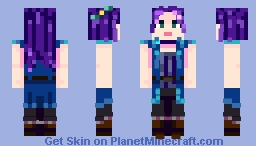 Abigail || Stardew Valley Minecraft Skin