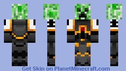 Creeper Space Marine (Black Templar) Minecraft Skin