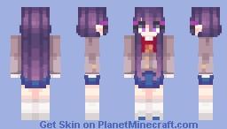 『ᴀᴍɪ』- Yuri, DDLC, GAME CANON Minecraft Skin