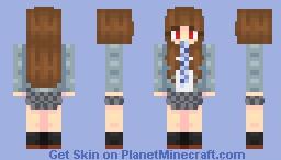 """Kamiya Nao """"Trinity Field"""" Minecraft Skin"""