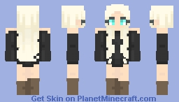 €łłα | Girl in Black Dress Minecraft Skin
