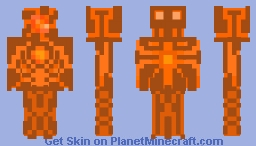 orange robo-knight (2/6) Minecraft Skin