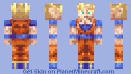 Super Saiyan Goku Minecraft Skin