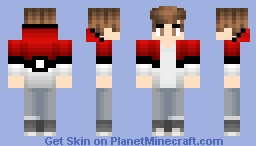 Boy in pokeball hoodie Minecraft Skin