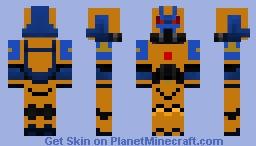Wardens of Light Space Marine Minecraft Skin