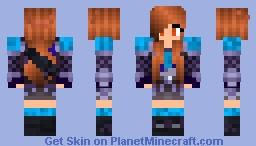 Amalphia Blue Armor Minecraft Skin