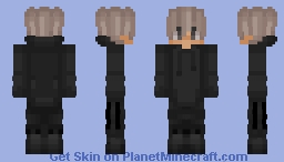 Black Adidas Blonde Boy Minecraft