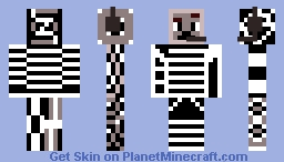 White/Black Phantom (Headphohnes) Minecraft Skin