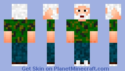 Army grandpa Minecraft Skin