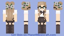 Jessie Black and white Minecraft Skin