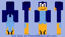 Meep Meep! It's The Roadrunner! Minecraft Skin