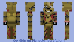 Salvaged Springtrap | FNaF 6 Minecraft Skin