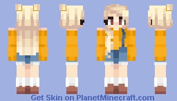 ☼ 𝒮𝒮𝓊𝓃𝓃𝓎 ☼ .Orange Rush. Minecraft Skin
