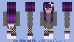 Purple Hair And Bows Minecraft Skin