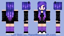 Galaxy Goth Horned Cutie Minecraft Skin