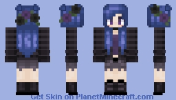 Gothic blue Flower Minecraft Skin