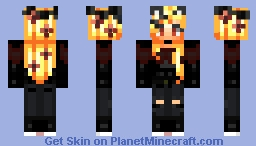 Dressing normally but because of your hair people think you're dressing for halloween. Minecraft Skin