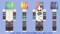 rainbow hair is honestly pain Minecraft