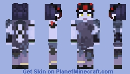 Widowmaker Black Lily - Elec Minecraft Skin