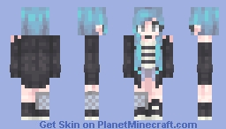 However, Cyan is Cooler // ST with cloverpatchh Minecraft Skin