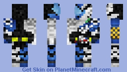 Kamen Rider Build -- SmaphoWolf 仮面ライダービルド•スマホウルフ Minecraft Skin