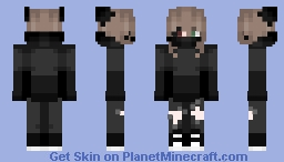 female ver of my previous skin because idk how to put it in desc Minecraft Skin
