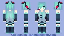 Hatsune Miku // Vocaloid (+Sakura and Yuki Miku) Minecraft Skin