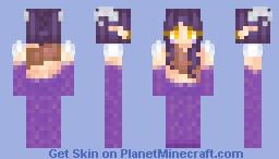 ~ 𝐋𝐮𝐜𝐤𝐲 𝐋𝐮𝐱 ~ Purple Dragonkin Minecraft Skin