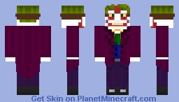 The Joker New52-like Minecraft Skin
