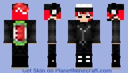 Pete Inkling (Red Ink Squad) (Splatoon) Minecraft Skin