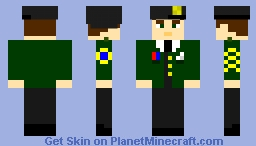 General CodyTheCannibal (beret version), The Tale of Crafteria Minecraft Skin