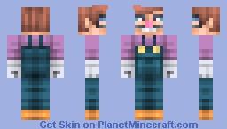 Waluigi without hat ! :D (First skin) Minecraft Skin